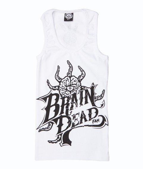 Brain Dead Familia-Occult Baseball Tank Top Damski Biały