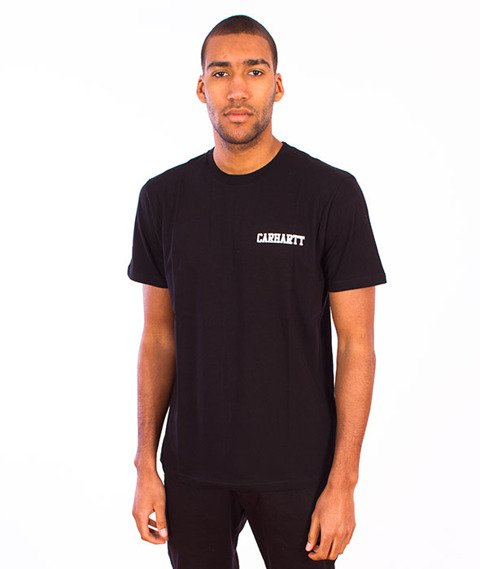 Carhartt-College Script LT  T-Shirt Black/White