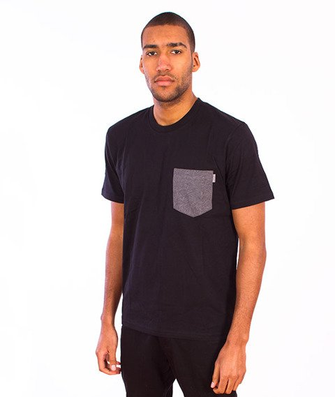 Carhartt-Contrast Pocket T-Shirt  Black/Dark Grey Heather