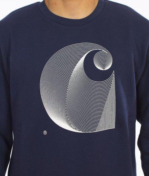 Carhartt-Dimensions Sweatshirt Cotton Blue/White