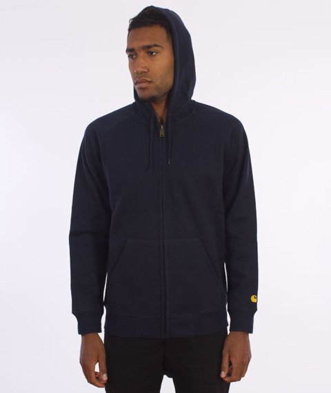 Carhartt-Hooded Chase Jacket Navy