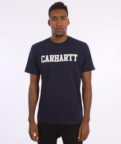 Carhartt- S/S College T-Shirt Navy/White