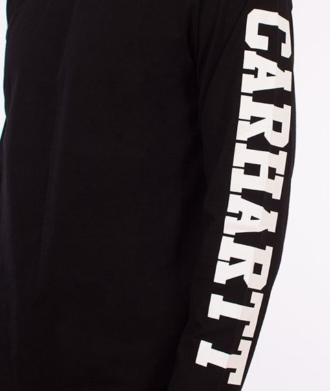 Carhartt WIP-College Left Longsleeve Black/White