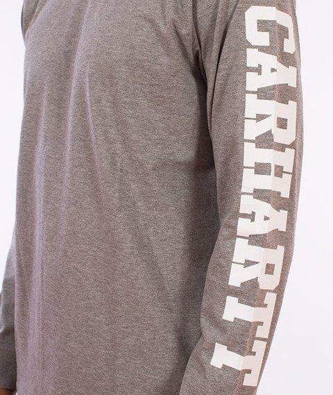 Carhartt WIP-College Left Longsleeve Grey Heather/White