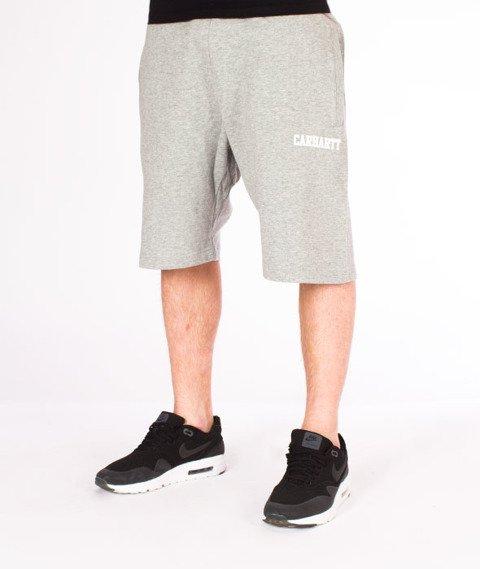 Carhartt WIP-College Sweat Short Grey Heather/White