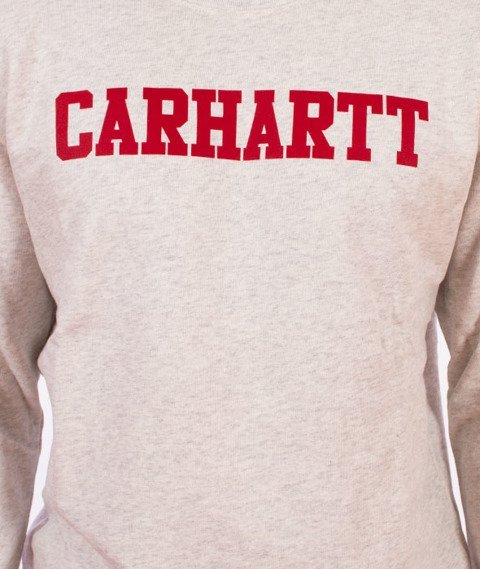 Carhartt WIP-College Sweatshirt Bluza Ash Heather/Chili