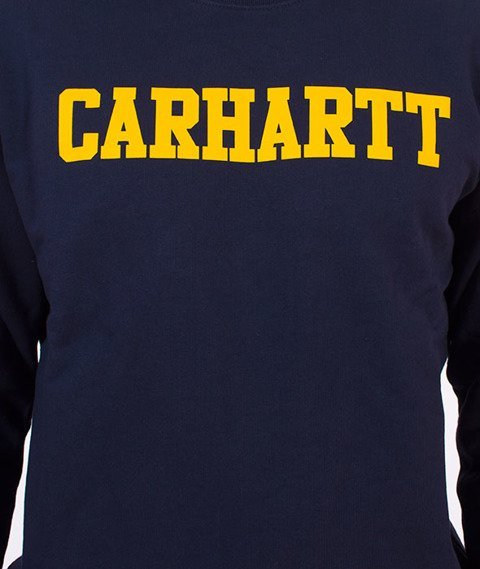 Carhartt WIP-College Sweatshirt Bluza Blue/Yellow