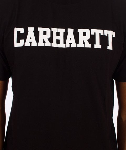 Carhartt WIP-College T-Shirt Black/White