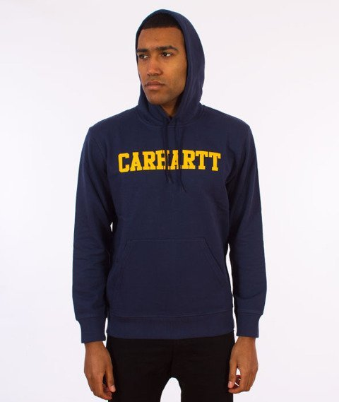 Carhartt WIP-Hooded College Sweat Bluza Kaptur Blue/Yellow