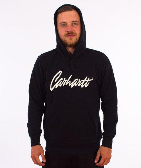 Carhartt WIP-Hooded Stray College Sweat Bluza Kaptur Black/Wax