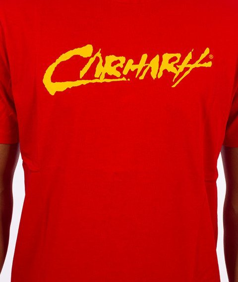 Carhartt WIP-Paint Script T-Shirt Chili/Yello