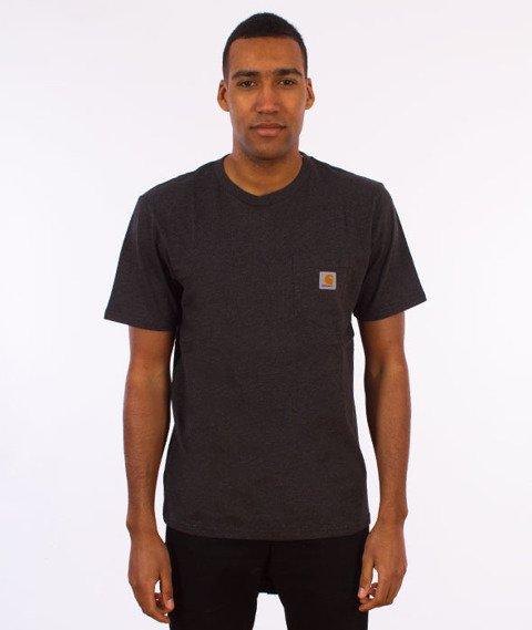 Carhartt WIP-Pocket T-Shirt Black Heather