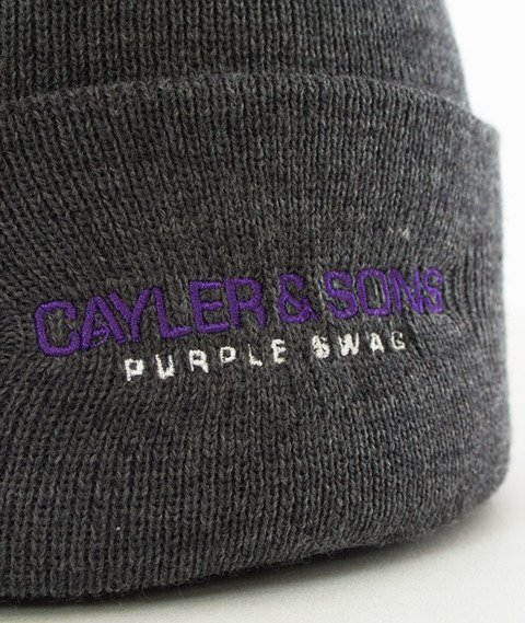 Cayler & Sons-WL Purple Swag Old School Beanie Dark Grey Heather