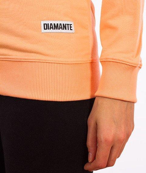 Diamante-Basic Crewneck Damski Bluza Brzoskwiniowa