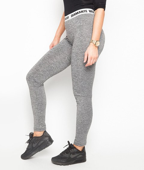 Diamante Chicks-Classic Legginsy Light Grey