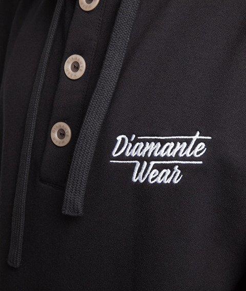 Diamante-Classic Button Kaptur Czarny