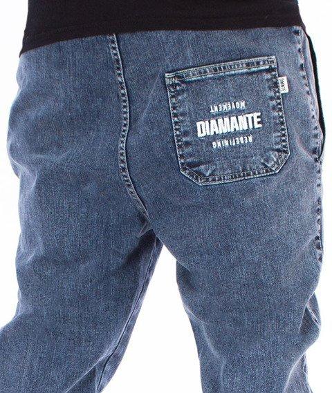 Diamante-Classic Jogger Jeans RM Spodnie Marmurkowe Niebieskie