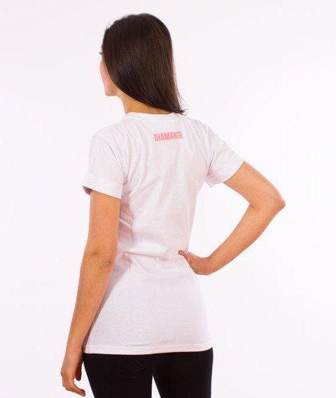 Diamante-Flamingo T-shirt Damski Biały