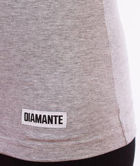 Diamante-Flamingo T-shirt Damski Szary