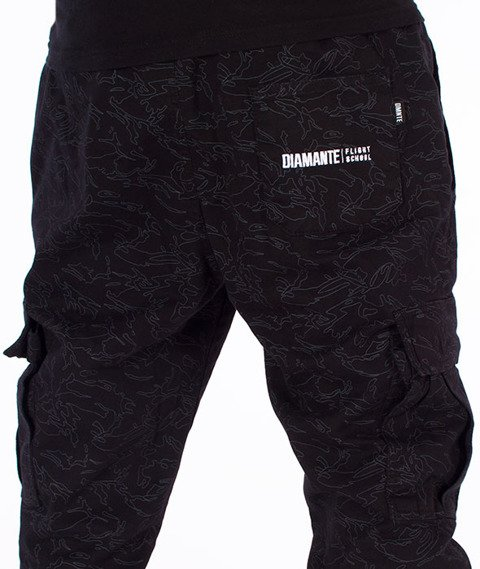 Diamante-Jogger Cargo Spodnie Camo