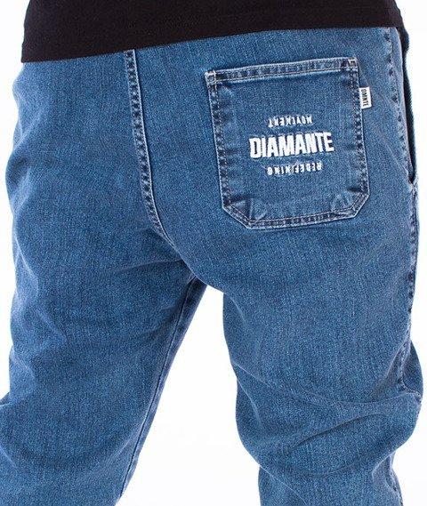 Diamante Jogger Jeans RM Marmurkowe Niebieskie
