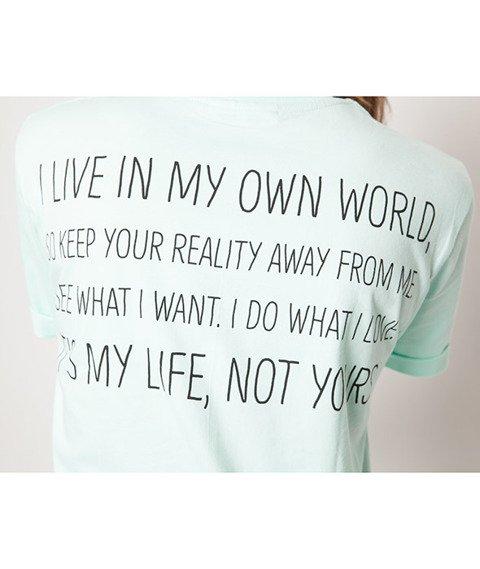 Diamante-My Life 2 T-shirt Damski Seledynowa