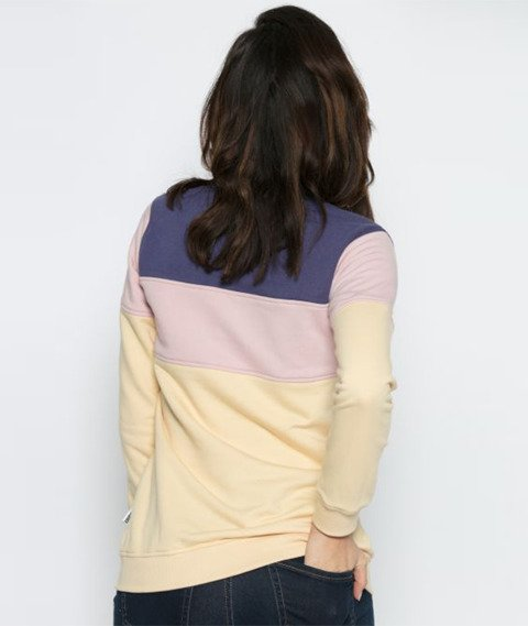 Diamante-Rainbow Block Bluza Damska Fioletowa/Różowa/Kremowa