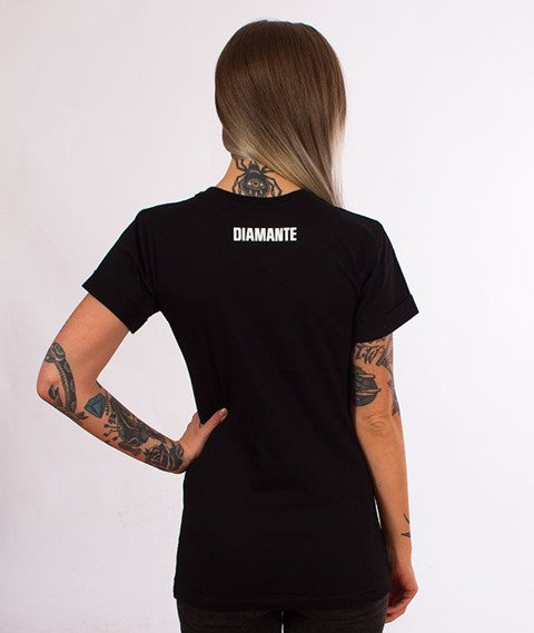Diamante-Say No T-shirt Damski Czarny