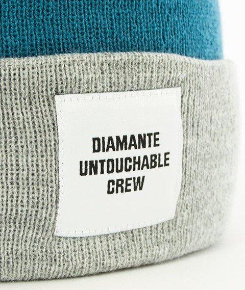 Diamante-Untouchable Crew Czapka Zimowa Zawijana Turkusowa/Szara