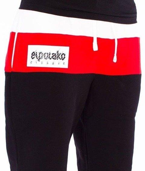 El Polako-3 Colors Regular Spodnie Dresowe Czarne