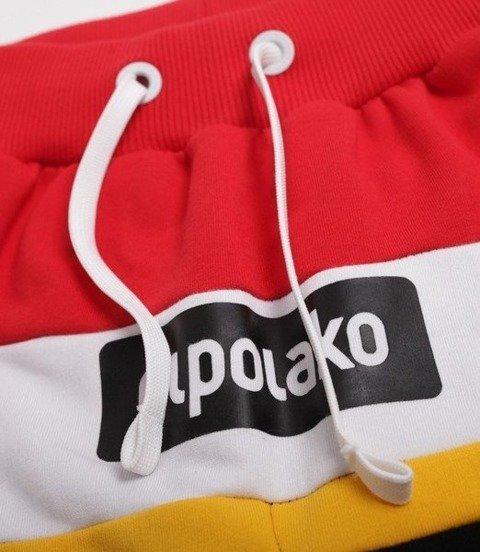 El Polako-3EP CUT Spodnie Krótkie Dresowe Czarne/Czerwone