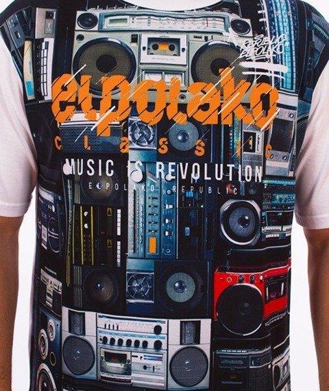 El Polako-Boombox T-Shirt Biały