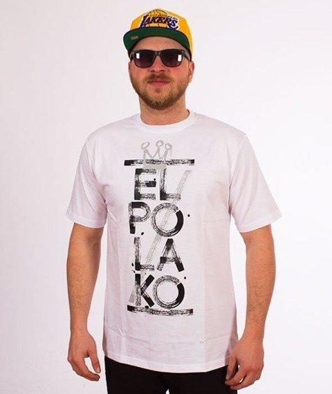 El Polako-Brush T-Shirt Biały