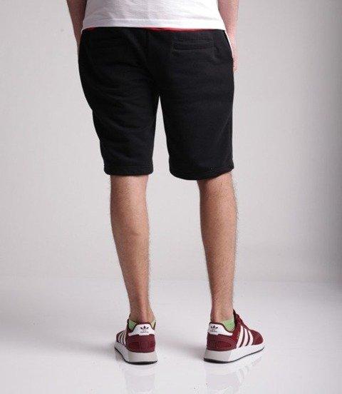 El Polako-CUT COLOR Spodnie Krótkie Dresowe Czarno Czerwone