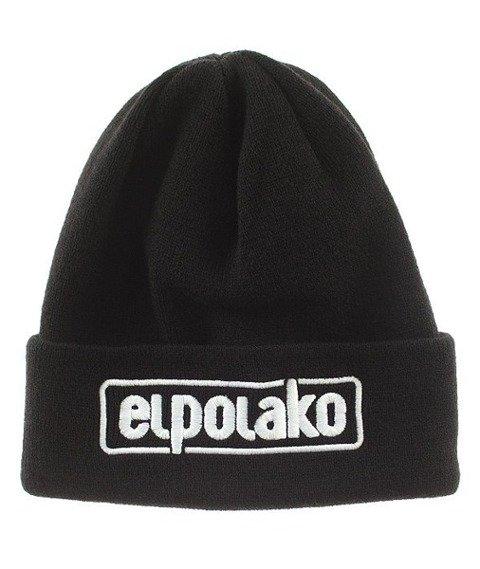 El Polako-Classic Czapka Zimowa Wywijana Czarna