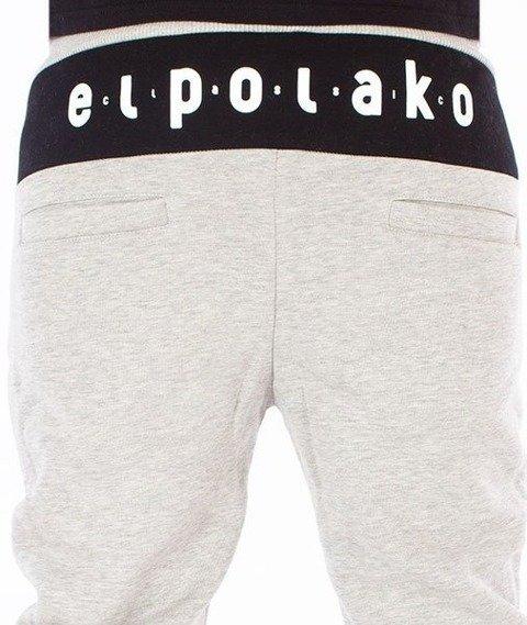 El Polako-Classic Fit Spodnie Dresowe Szare