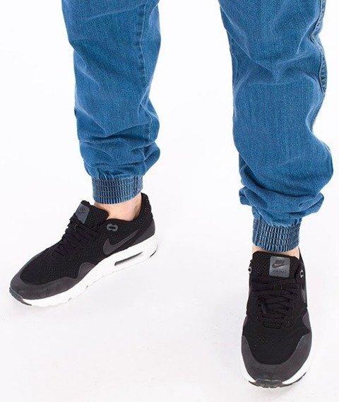 El Polako-Classic Jogger Slim z Gumą Spodnie Light Blue