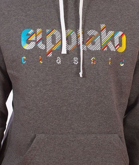 El Polako-Classic Line Bluza Kaptur Grafitowy
