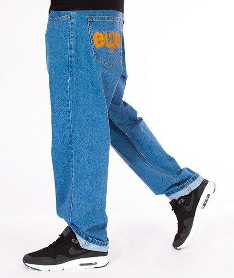 El Polako-Classic Spodnie Baggy Jeans Light Blue