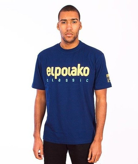 El Polako-Classic T-Shirt Granatowy