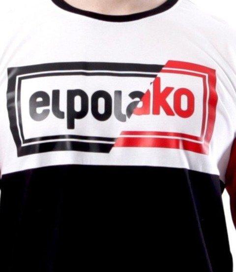 El Polako-Cut Color Longsleeve Czarno Czerwony