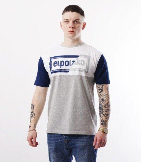 El Polako-Cut Color T-Shirt Szaro/Granatowy