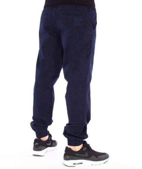 El Polako-EP Basic Jogger Regular z Gumą Tkanina Spodnie Granat