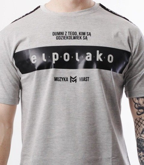 El Polako-EP Belt T-Shirt Szary