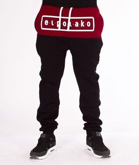El Polako-EP Classic Style Fit Spodnie Dresowe Czarne