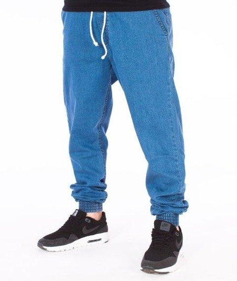 El Polako-EP80 Slim Jogger Jeans Spodnie Light Blue