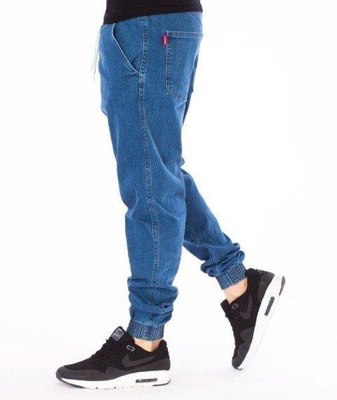 El Polako-ElPolako Republic Jogger Slim z Gumą Spodnie Light Blue