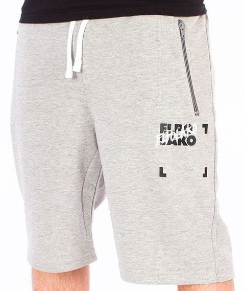 El Polako-Elpo BLM Spodnie Krótkie Dresowe Szare