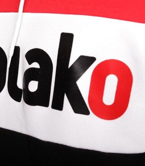 El Polako Elpo New Bluza z Kapturem Czerwony/Czarny