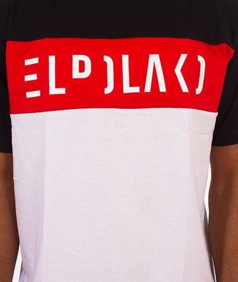 El Polako-Elpolako Cut T-Shirt Premium Czarny/Czerwony/Biały